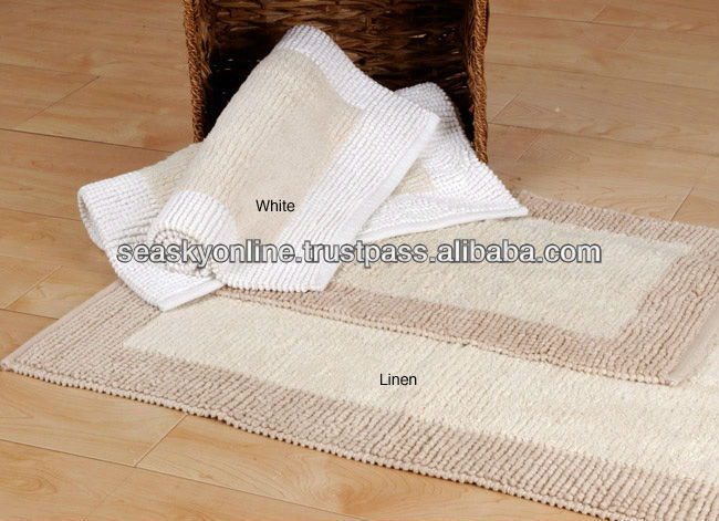 Washable cotton waterproof bath mat