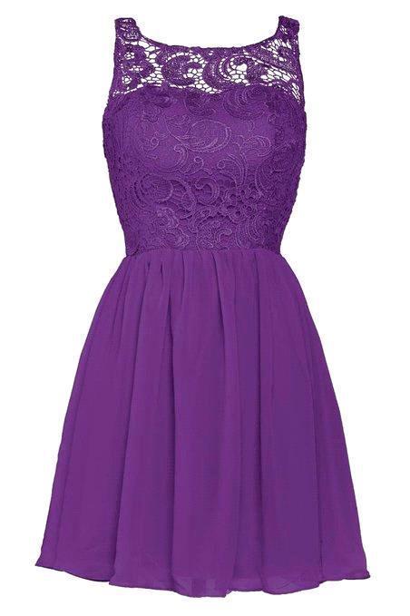 Get Quotations Sheer Neckline C Black Purple Silver Lace Short Bridesmaid Dresses 2017 Elegant Chiffon Wedding Party