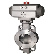 China tianjin made Stainless steel Pneumatic butterfly valve