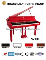 HUANGMA HD-W100 red digital grand piano for jack midi