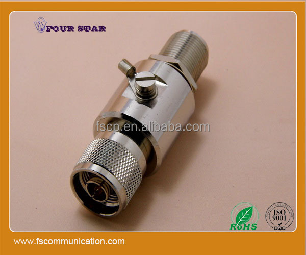 n male to n female bulkhead connectors (dc-3ghz 350V )Gas discharge tube rf surge arrester
