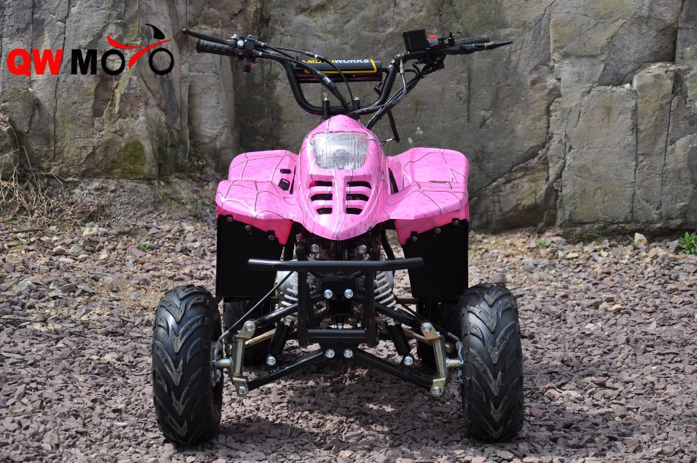 QWMOTO CE 100cc Pink 4 stroke Automatic Kids ATV for cheap sale