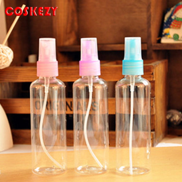 Travel clear transparent 100ml perfume spray bottle, sprayer small refillable atomizer bottle, 100ml container bottle