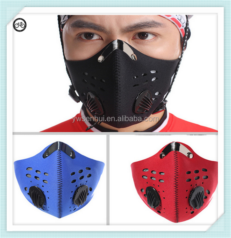 Super Anti-Pollution Ski Snowboard Bike Motorcycle Cycling Racing Carbon Filter Half Face Neoprene Mask
