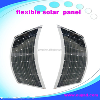 SOLAR top quality back contact high efficiency sunpower cell Semi flexible Solar panel 20w-160w