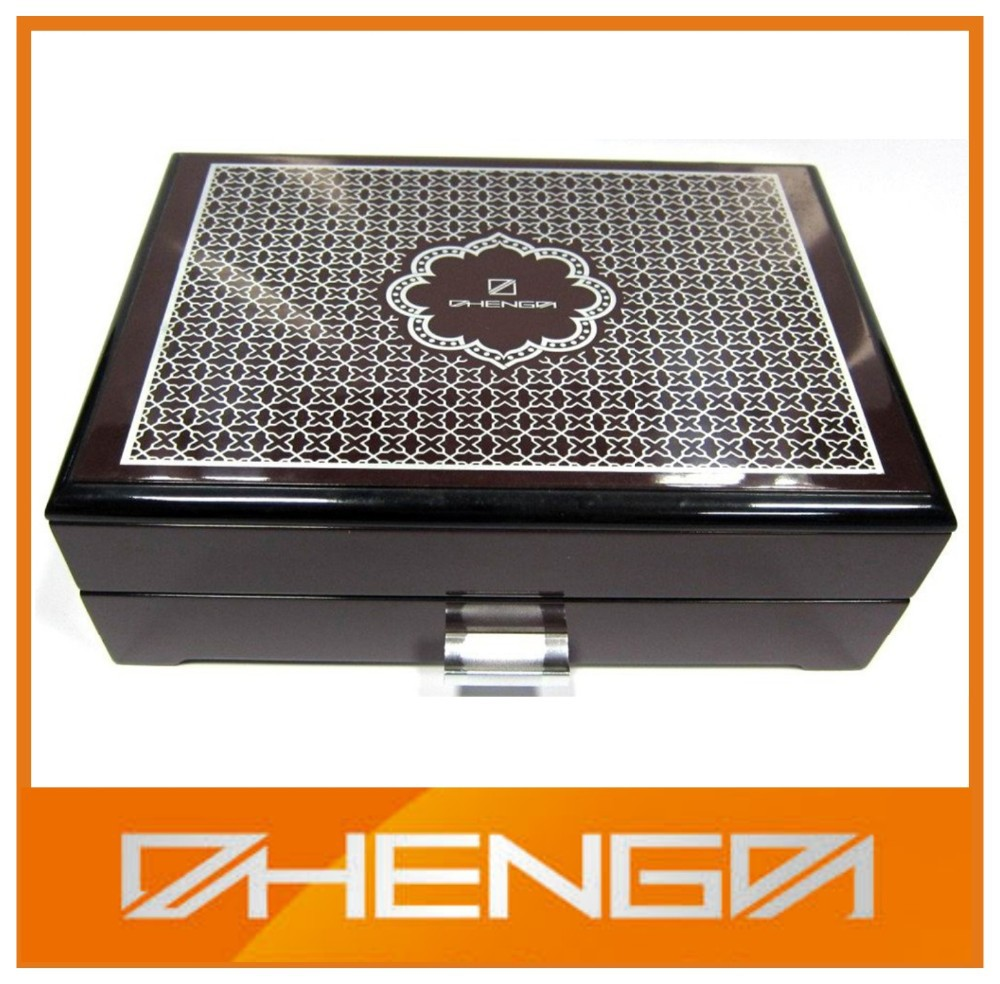 High quality customized made-in-china Customized color wood box for jewelry(ZD13-126-0)
