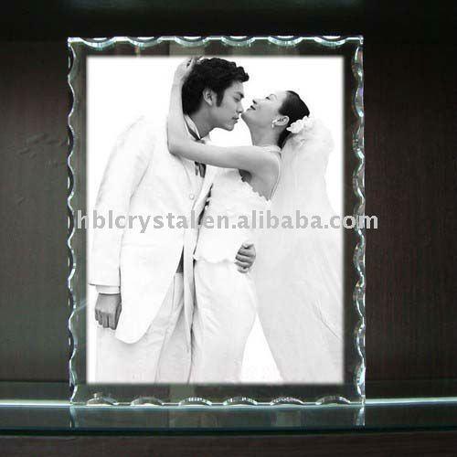 fashion crystal plaque photo frame