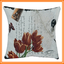 Polyester/cotton vintage flower pillows tapestry indoor flora cushions