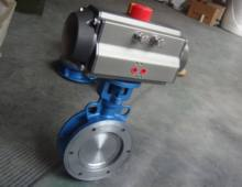 API609 Large Size Wafer Type/Flanged Ends Butterfly Valve With Penumatic Actuator