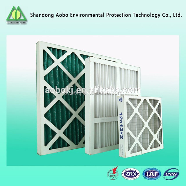 Paper frame air filter China factory supply first effect paper frame filter