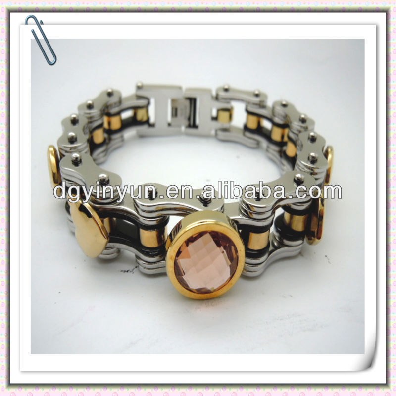 316L surgical stainless steel jewelry wholesale,colorful crystal motorcycle bracelets,cool style jewelry