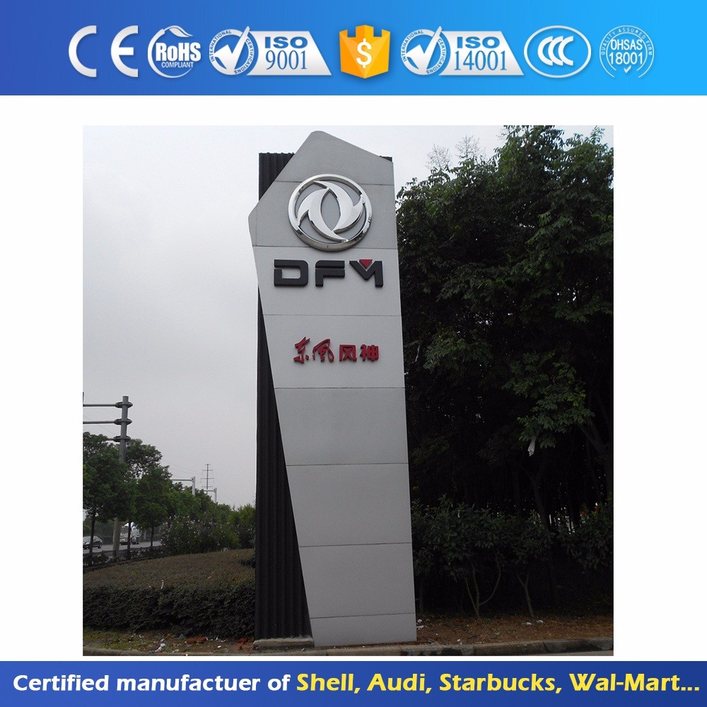 Illuminated Led Screen Auto Advertising Pylon