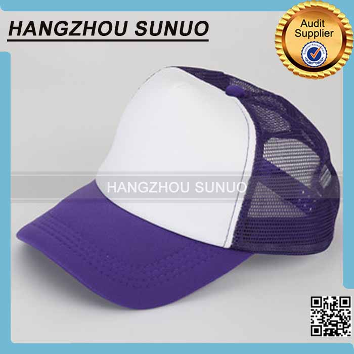 OEM Your LOGO Polyester Mesh Blank Cap For Sublimation