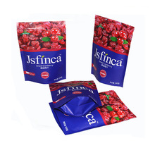 Plastic packaging pouch bags with zipper for dried fruits packing
