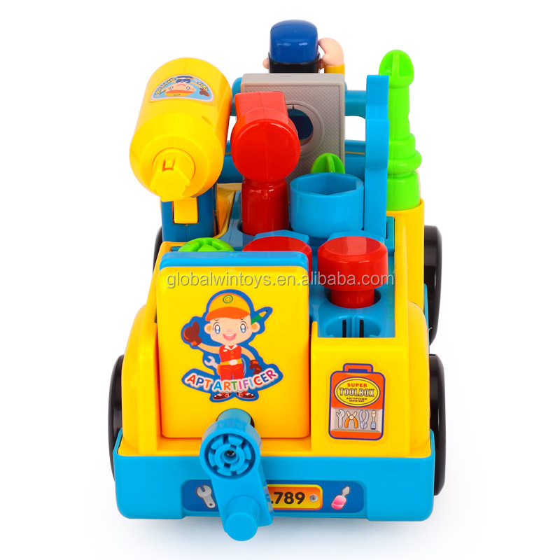 HUILE 789 toy car with various tools musical light truck best gift for kids.jpg