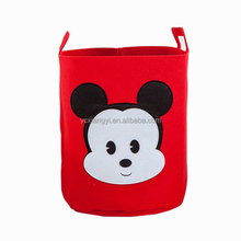 Foldable Laundry Basket Folding Kids and baby Toys Felt Organiser Storage Basket Clothes Holder