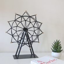 Handmade sky wheel sculpture home decor metal art display stands