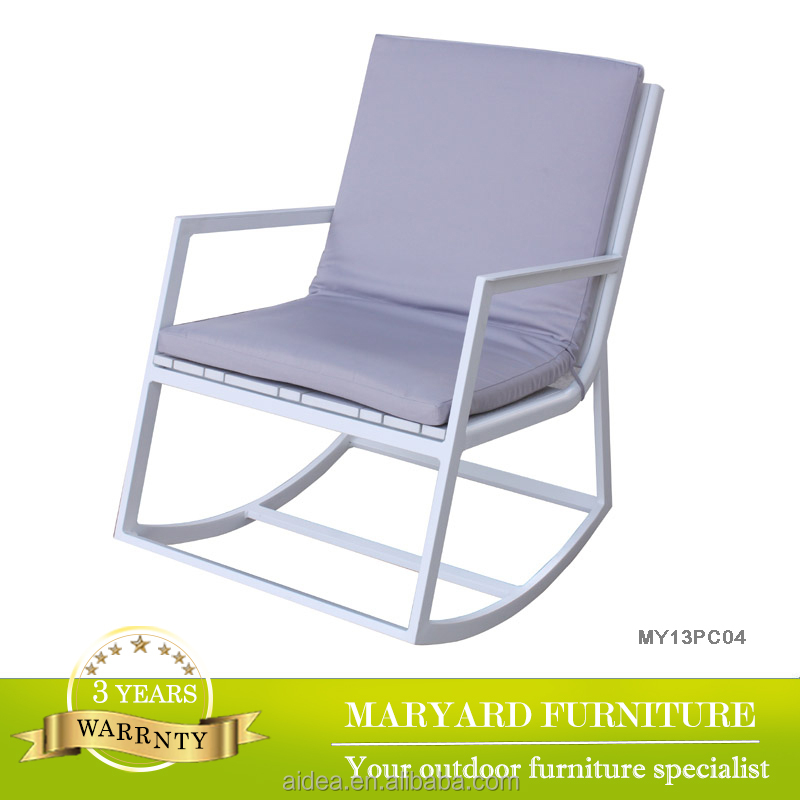 garden outdoor polywood chair+wood rocking chair