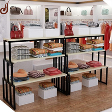 FR-MDF PD and iron material customized size garment shopfitting display racks and stands