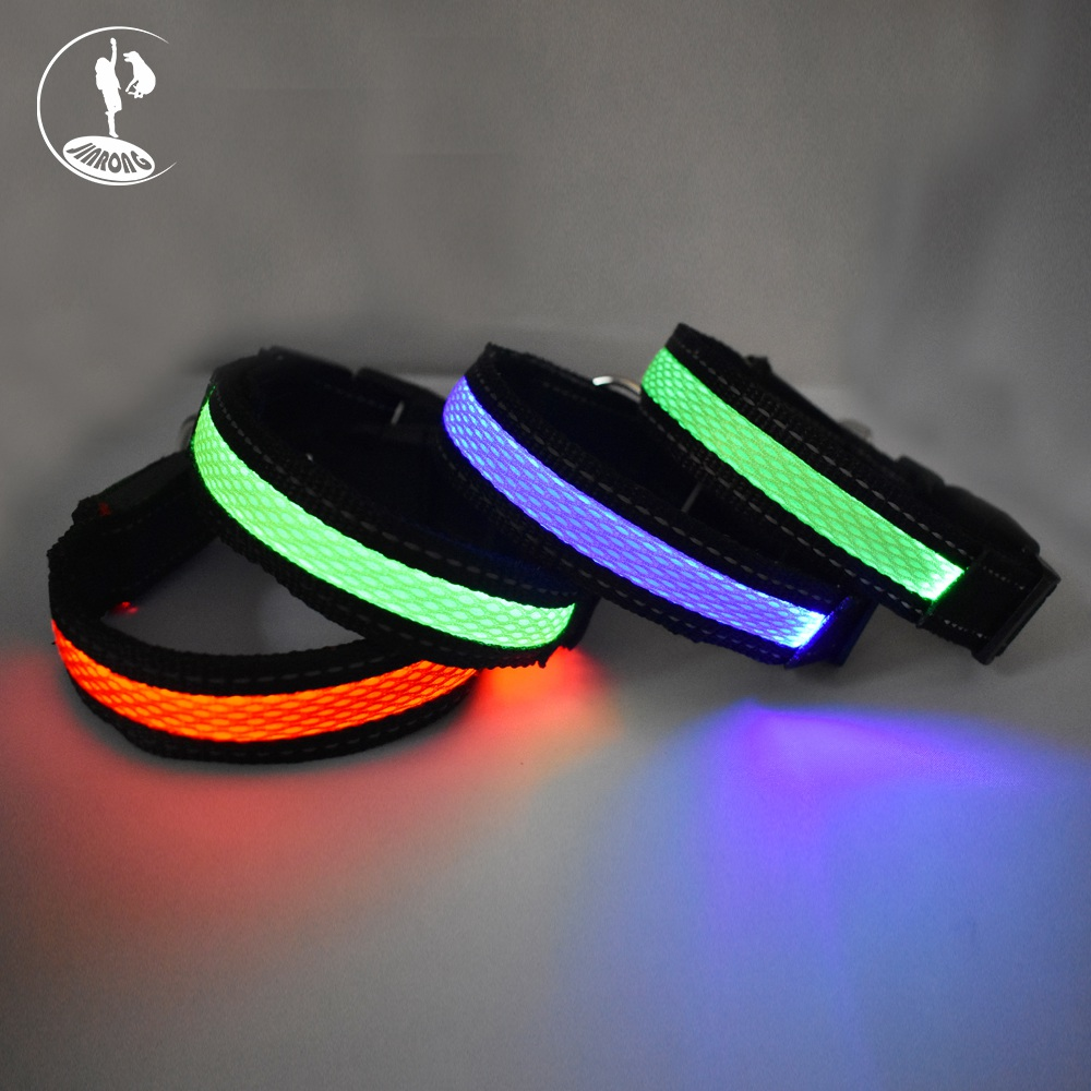 Best selling comfortable luminous led dogs pet supplies collar