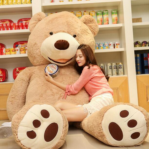 1 PC 100cm The Giant Teddy Bear Plush Toy Stuffed Animal High Quality Kids Toys Birthday Gift Valentine's Day Gifts for Girls