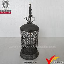 round french country vintage recycled black metal lanterns