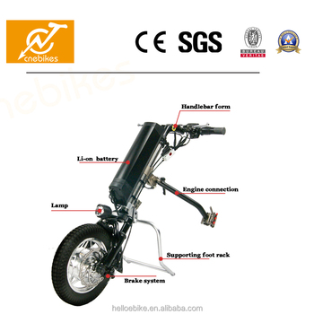 Easy Handling 350W Electric Handbike For Wheelchair With Removable Battery
