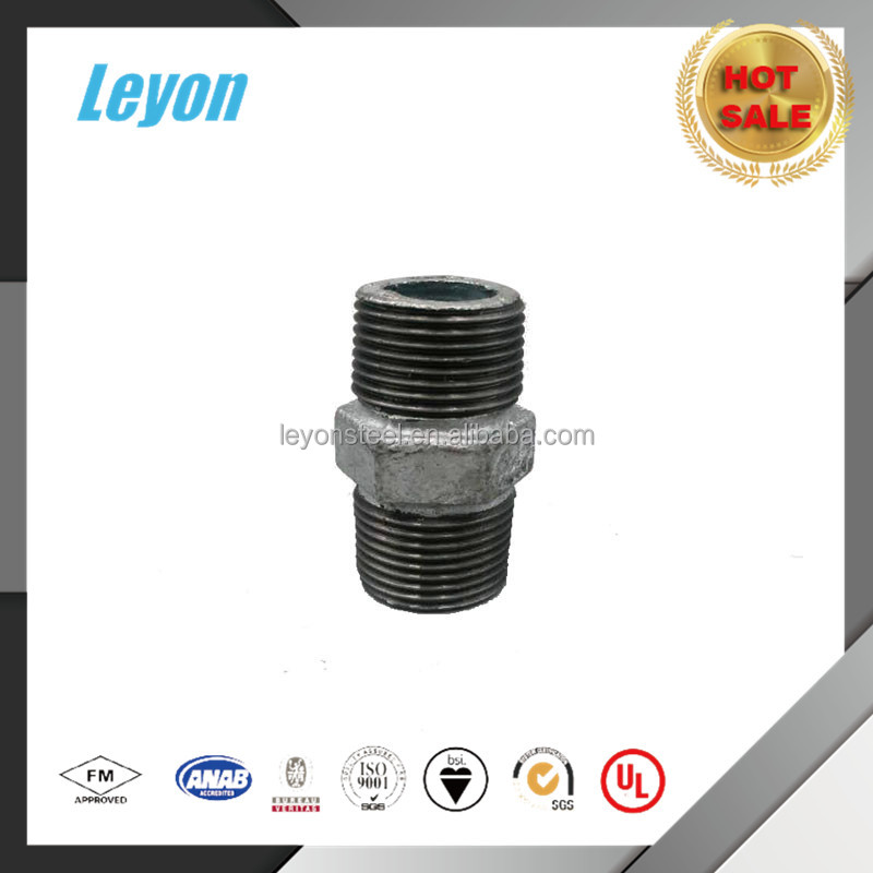 Galvanized Malleable Iron Pipe Fittings Hexagonal Nipple