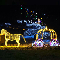 High Quality Giant 3D LED Horse