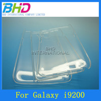 Transparent crystal plastic hard protective clear case for samsung i9200