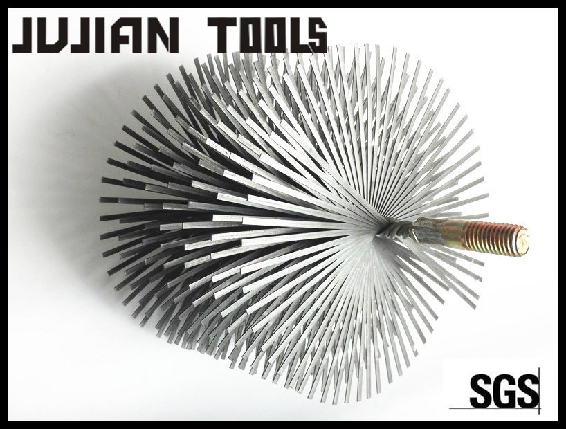 Flue brushes-heavy-duty clean brushes for long sweep elbow