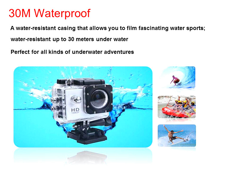 HD 720P Waterproof Extreme Sports Action Video Camera Sports Cam A8