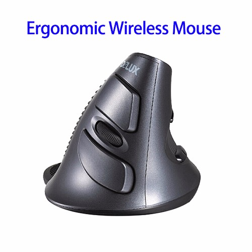 Trade Assurance Supported DeLUX M618 Wireless Vertical Laser Ergonomic Mouse