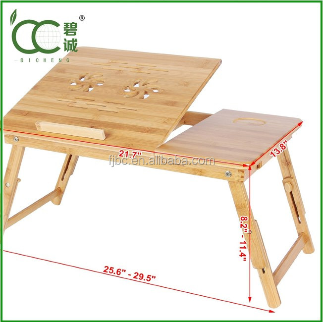 China Factory Competitive Price OEM Avaliable Bamboo Laptop Table Dimension Wholesale