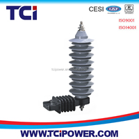 Polymer housing surge arrester dc surge arrester for power distribution