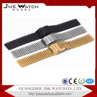 stainless steel 1.20 mesh watch band belt extenders with Diving buckle