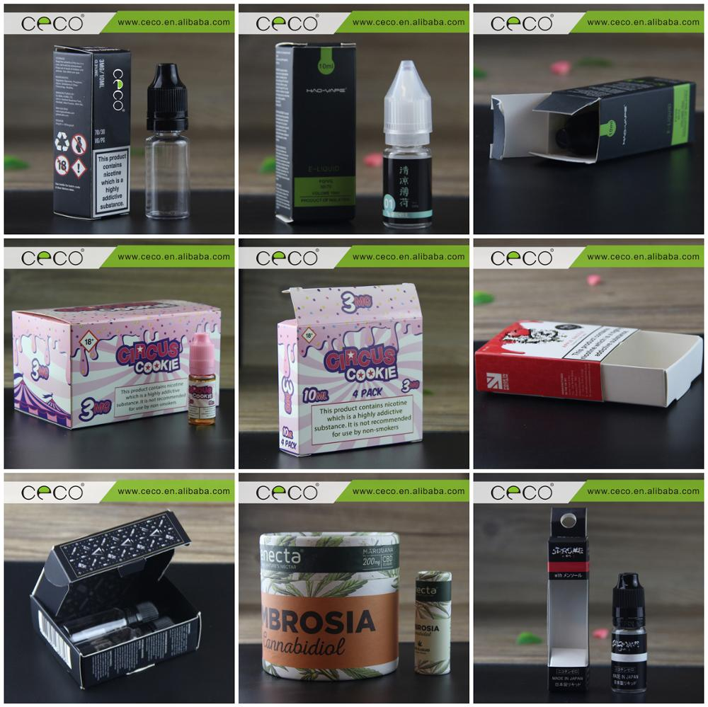 CECO e cig e juice plastic bottles dropper PET 10ml bottles