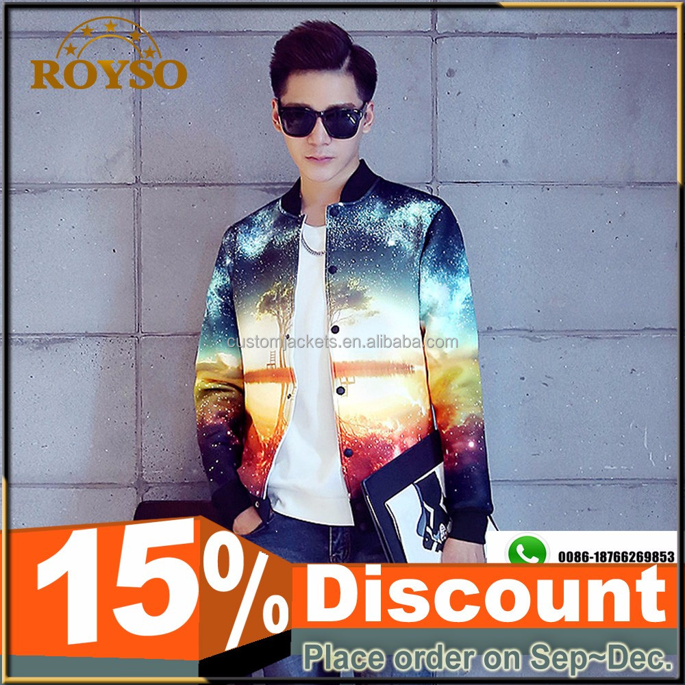 Custom Men Women Printed Sublimation Bomber Softshell Jacket Wholesale