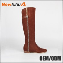 New design fashion winter ladies knee high boots