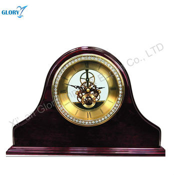 Royal Brown Hand Carved Wooden Clock