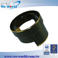 Highest precision CNC milling anodized aluminum camera lens