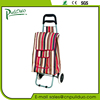 Straight 2 Wheeled Folding Supermarket Shopping Cart Bag With Cooler Pocket