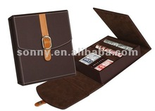 Quality mini poker chip set with leather case