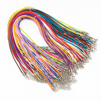 18in/2.0mm DIY Jewelry Making Mix Color Waxed Necklace Cord with Lobster Claw Clasp necklace accessories