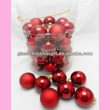 wonderful candy barrelled glass ball high quality Boxed Packaging GML Christmas decor,Trade Assurance supplier