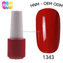 HNM series 1937 # 1343 Nail Decoration Easy Dry Organic UV Gel Nail Polish Color Gel Nail Polish
