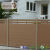 foshan wpc aluminum fence panel in garden and courtyard