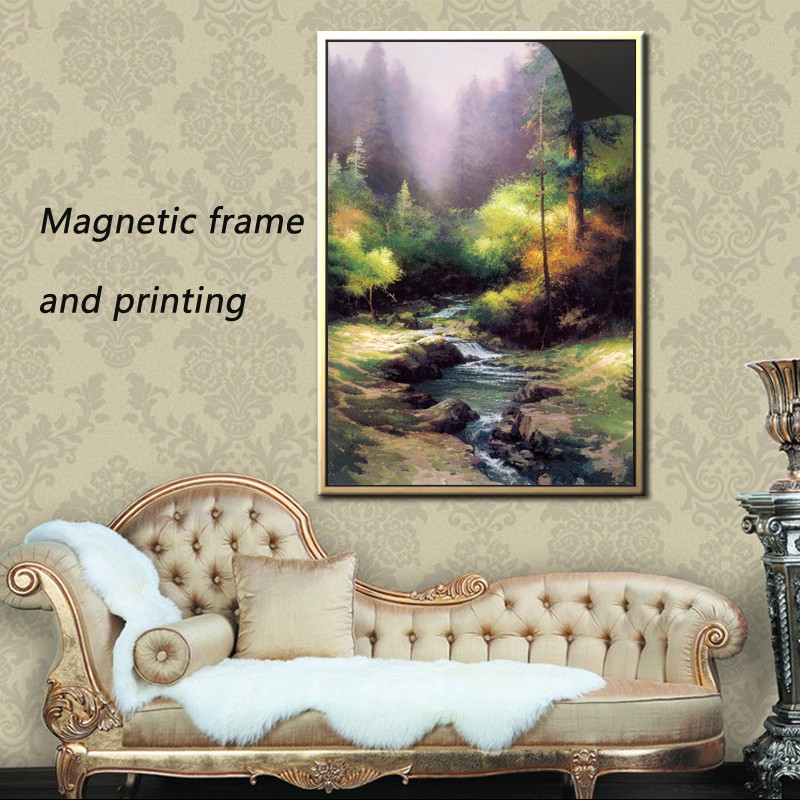 new style beautiful custom magnetic photo frame & print magnetic painting -thomas kinkaides 1013-191