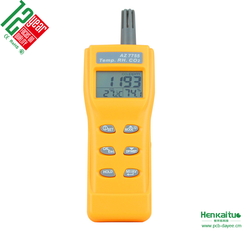 Portable Handheld CO2 Testing Equipment Monitor Carbon Dioxide CO2 Meter