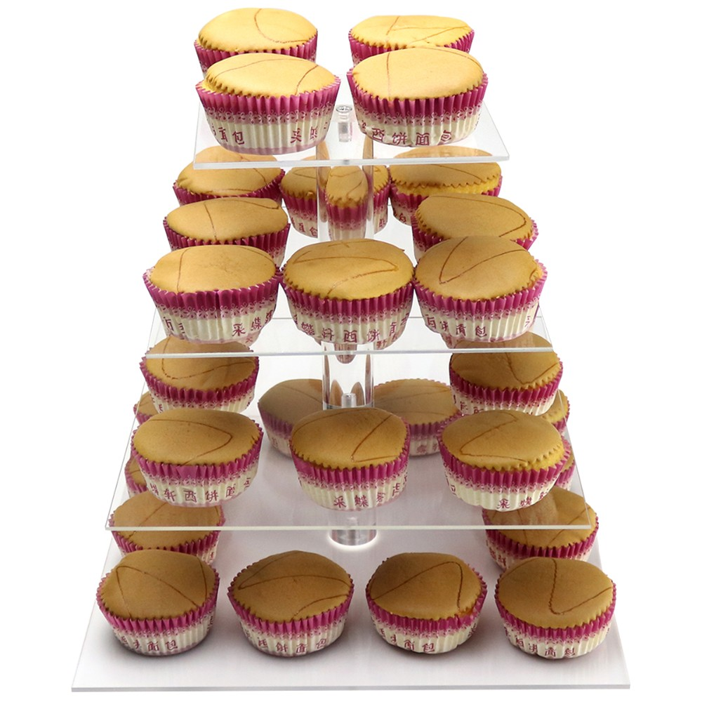 deyuan Crystal Round Acrylic Cupcake Stand Wedding Birthday Cake Decorations Clear rack guangzhou